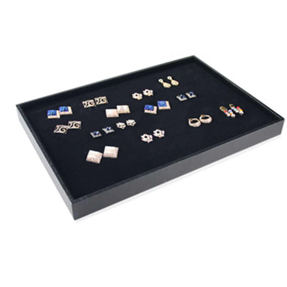 High Quality New Velvet Rings Necklace Earring Cufflinks Jewelry Display Show Tray Holder(China (Mainland))