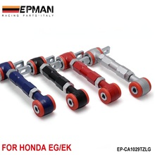 EPMAN New High Quality  RACING REAR ADJUSTABLE CAMBER ARMS KIT FOR 88-01 Honda CIVIC (default color is red) EP-CA1029TZLG(China (Mainland))