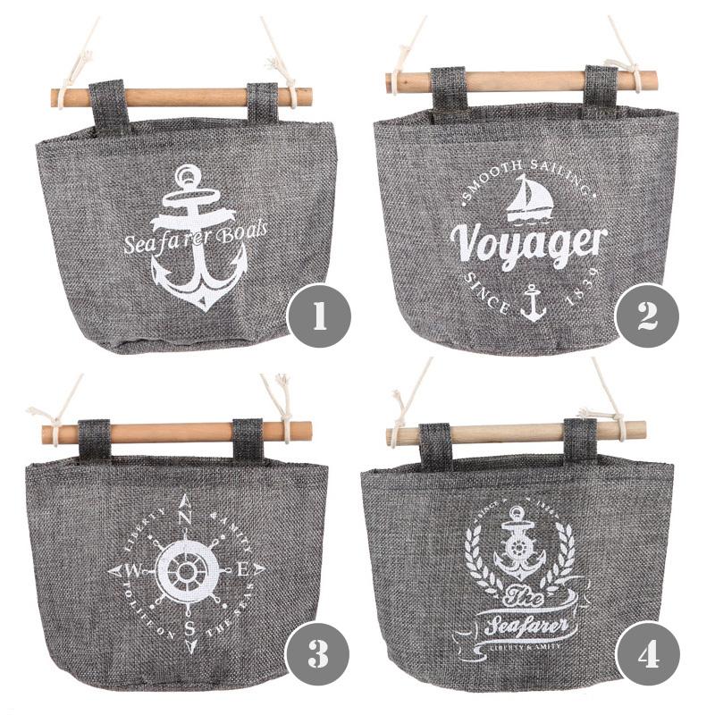 4 Styles Navy Fabric Cotton Pocket Hanging Holder Wall Storage Bags Racks wall pocket E#CH(China (Mainland))