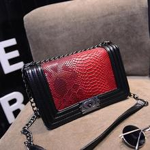 Fashion Brand Chains Ladies Bags Women s Shoulder Bags Alligator Printing Patchwork Women Messenger Bags Crocodile