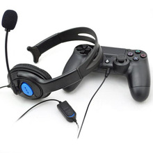 Buy Hot Selling High Portable AdjustableWired Gaming Chat Headset Headphone Microphone Sony PS4 PlayStation 4 Black for $4.69 in AliExpress store