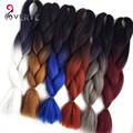 - Омбр Канекалон плетение волос коса 100 г/шт. синтетический два тона высокая температура волокна Канекалон Слон Кос наращивание волос