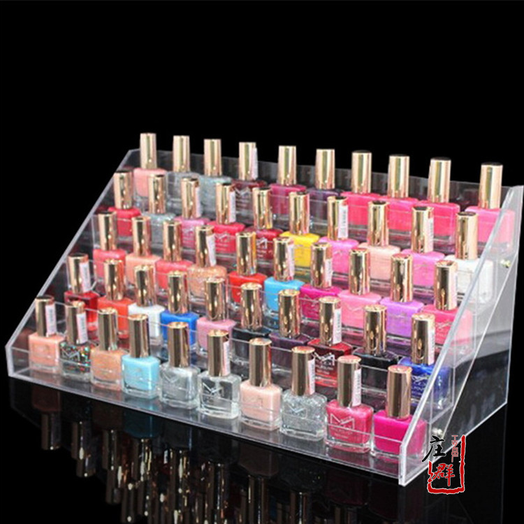 5 tiers acrylic cosmetic display lipstick stand holder, cosmetic store display unit(China (Mainland))