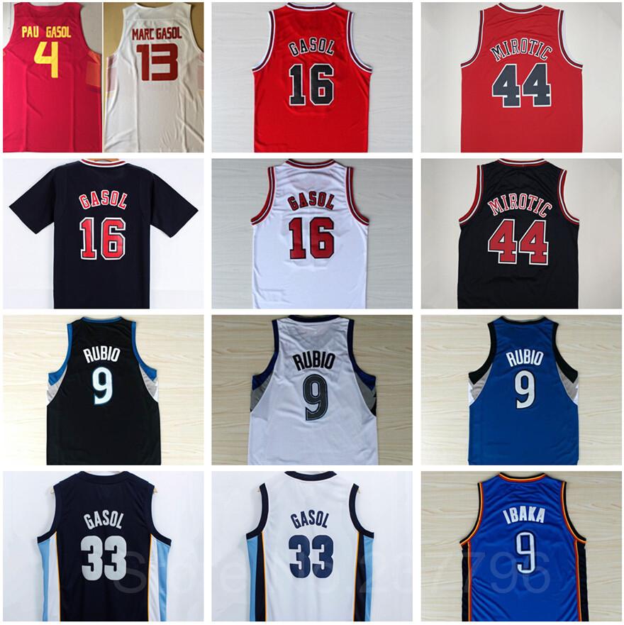 Spain Baloncesto Maillot Pau Gasol Jersey 16 44 Nikola Mirotic 33 Marc Gasol Camiseta Serge Ibaka 9 Ricky Rubio Basketball Shirt(China (Mainland))