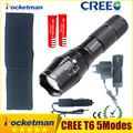 CREE XML T6 3000lm Adjustable Led Flashlight Led Torch Car Charger Battery Charger 2 18650 Rechargeable
