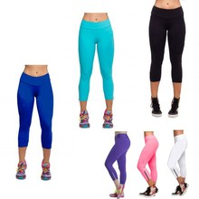 Hot Women Capri Running Pants High Waist Cozy Cropped Leggings Fitness M-XL