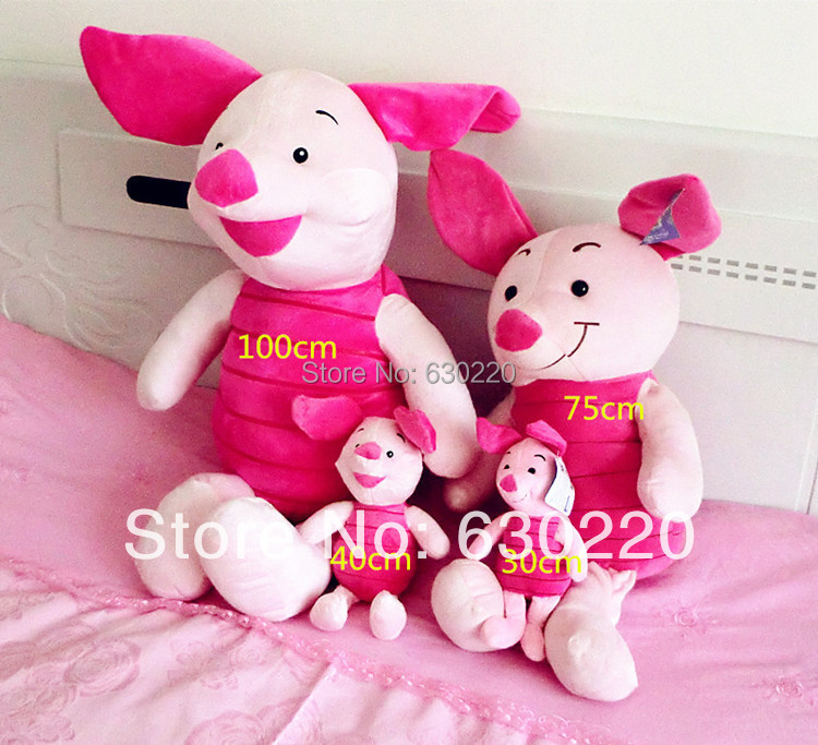 Kawaii Large size Pink Piglet pig plush Toy stock 1 meter giant piglet Toys girls - Green Dor store