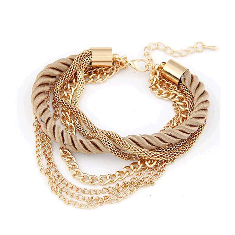 New Fashion rope chain bracelet decoration for girl of six colors hot selling bracelet for special summer party accessory(China (Mainland))