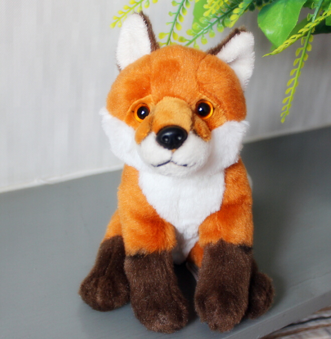 Red Fox Plush Toys Creative Doll Kawaii Male Female Birthday Gift Stuffed Animals