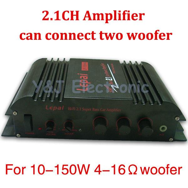 HiFi 2.1 channel 2CH LP168 Mini Amplifiers Power Stereo Amp MP3 MP4 Car Motorcycle Bike LP-168 LP-168HA - Y&J Electronic store