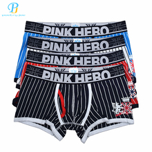 Buy Pink Heroes 4pcs/lot Men Underwear Boxers Sexy Stripe Cotton Boxer Men Underwear Brand Low Fashion Mens Underwear Shorts Boxer for $12.59 in AliExpress store