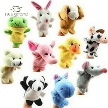 10 Pics/Lot Baby Plush Toy Finger Puppets Talking Props(10 Animal Group)  D006(China (Mainland))