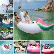 inflatable Unicorn Giant Pool Float Swimming Float for Adult Tube Raft Kid Swim Ring Summer Water Fun Pool Toy 275*110*130CM(China (Mainland))