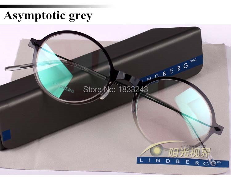 Free shipping Lindberg glasses frames of mirror spectacle nylon ultrasound light Eyeglasses for men Round box frames(China (Mainland))