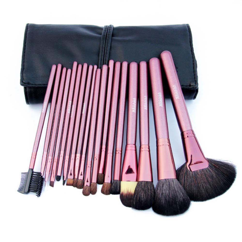 18PCS Makeup Brushes Set Professional Natural Hair Make up Brush Set Tools Cosmetics Kits Pincel Maleta De Maquiagem 4 Colors<br><br>Aliexpress