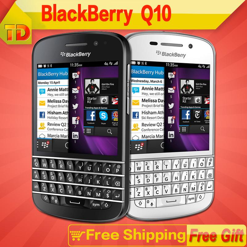 Original Blackberry Q10 unlocked Mobile Phone 4G Network 8.0MP camera Dual-core 2G RAM 16G ROM Free shipping(China (Mainland))