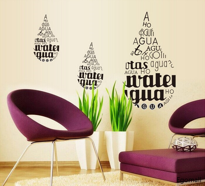 Drop Wall stickers Home Decor Decals Removable Adesivo De