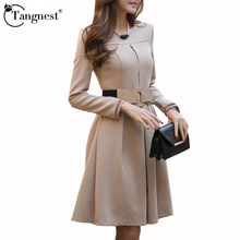Vestidos Women Dress Solid Color Plus Size Belt OL Business Work Wear Long Sleeve A-line Elegant Dresses Vestidos WQL2897(China (Mainland))
