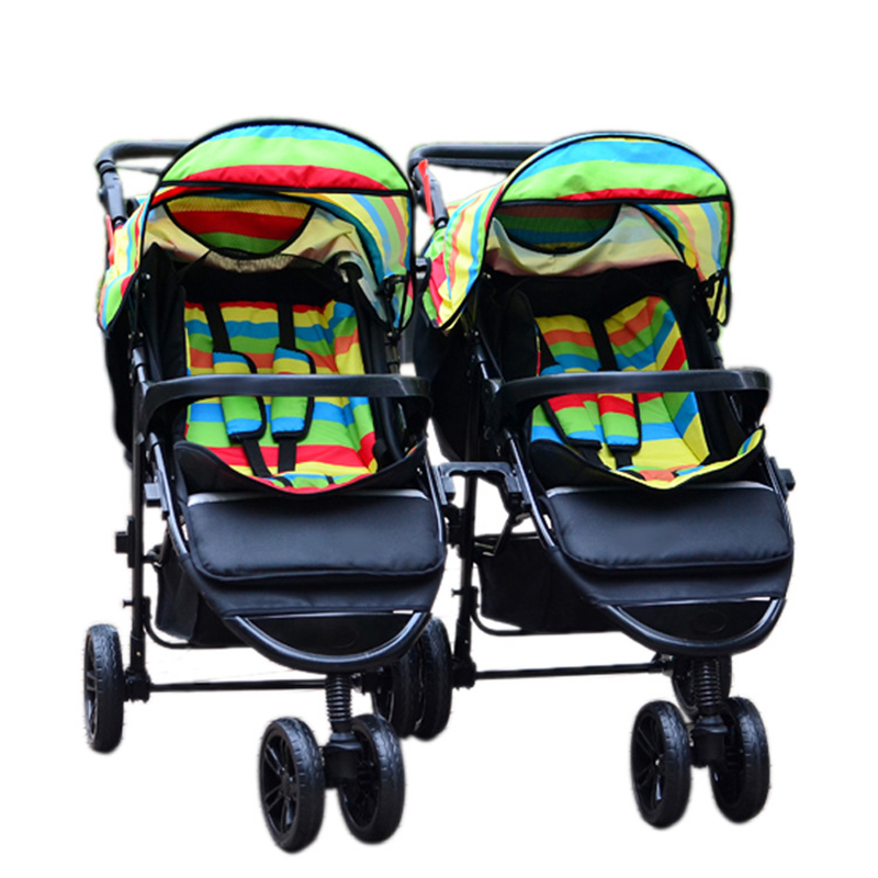 Twins Strollers Baby Strollers 3 In 1 Carriage Prams Folded Baby Kinderwagen Luxury Landscape Carts Stroller GH263(China (Mainland))