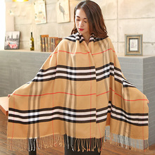 2016 Women  Winter Warm Plaid Pattern Brand Scarf  All-match Soft Scarf Long Design Air Conditioning Cotton Scarves Foulard(China (Mainland))
