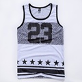 men s summer tank tops jordan 23 basketball vest fit slim sleeveless tee shirts Gym stringer
