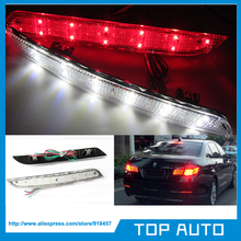 LY017-3 Clear Lens LED Bumper Reflector Light For 2011-up BMW F10/F11 5 Series 528i 535i 550i (Fit Regular Bumper Trim Only)(China (Mainland))