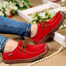 2016 New Fashion Woman Casual Shoes Wild Lace-up Woman Flats Warm Comfortable Concise Woman Shoes Breathable Female Shoes aDT90(China (Mainland))