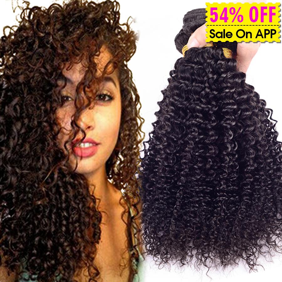 Brazilian Kinky Curly Virgin Hair 3 Bundle Deals Afro Kinky Curly Hair 6A Brazilian Virgin Hair