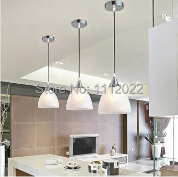 Moderne blanc panach verre ombre e27 seule led pendentif luminaire pour sall - Lampe pour cuisine moderne ...
