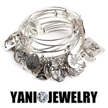 10pcs/lot Newest Mixed Vintage Love Expandable Wire Bracelets & Bangles Good Luck Charms Wire Bracelet(China (Mainland))