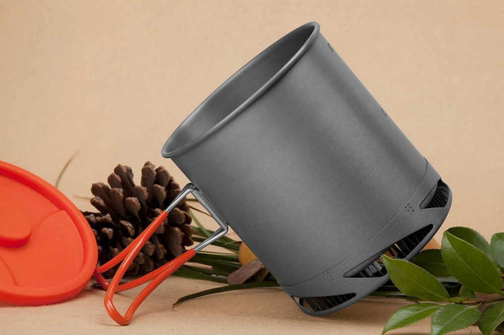 Fire Maple Outdoor Camping Picnic Pot Portable Heat Collecting Exchanger Pot Anodized Aluminum Cookware Cup FMC-XK6 1L 190g(China (Mainland))