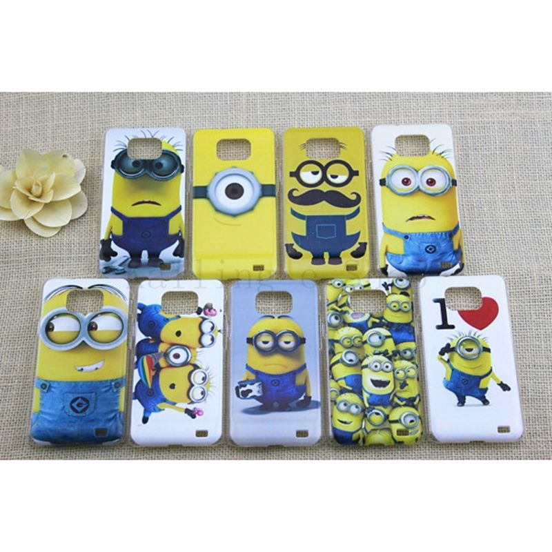 Lovely Yellow Minion pattern phone case for Samsung Galaxy s2 S3 S4 S5 S6 thin skin cover shell for smasung s2 S3 S4 S5 S6(China (Mainland))