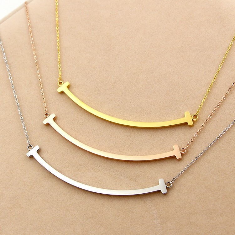 316L-Stainless-Steel-Smiling-Face-T-Letter-Shape-Pendant-Necklace-Chain-Necklace-For-Women-Present-Never (2)