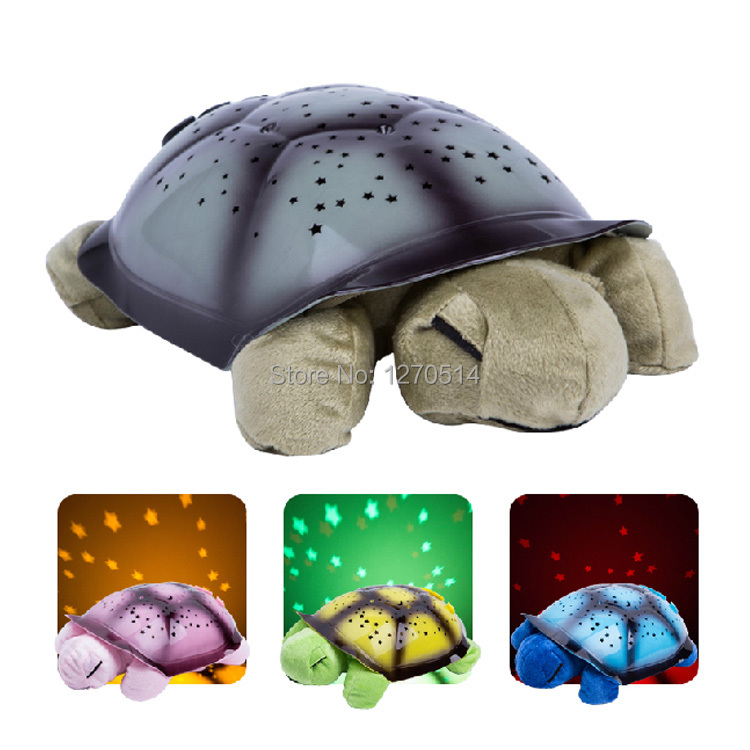 romantic Star Projector, star guide, turtle lamp, children sleep lights, Christmas, Valentine's Day gift, free shipping(China (Mainland))