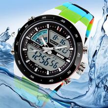 2016 hot Men Sports Watches Waterproof Fashion Casual Quartz Watch Digital & Analog Military Multifunction Men's Sports Watches