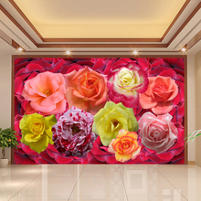 Buy beibehang Custom Wall Mural Wallpaper Rose Flower Bedroom TV Background Home Decor Wall Painting Wallpaper Papel De Parede 3D for $16.50 in AliExpress store