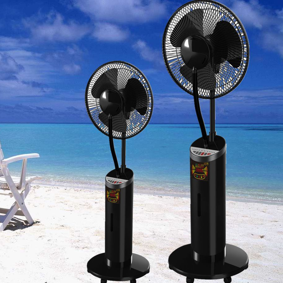High quality water spray cooling cooler misting standing fan powerful and safe for home blades humidification mosquito repellent(China (Mainland))