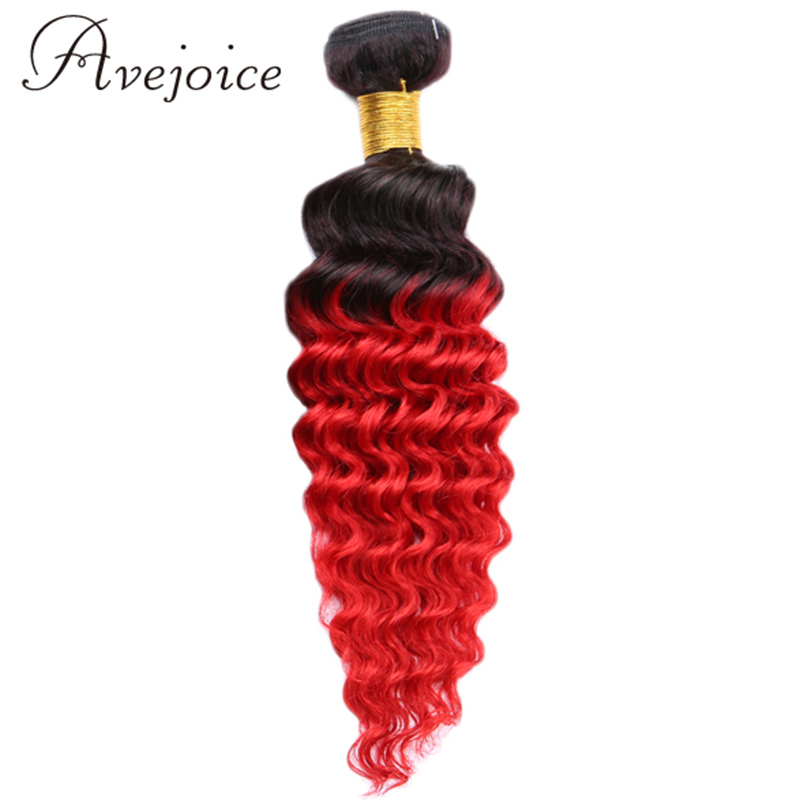 Здесь можно купить  Avejoice Hair Mongolian Deep Wave Bundles Ombre Hair 1pcs/lot T1B/Red Hair Weave Aliexpress Uk 2 Tone Ombre Deep Wave Hair  Волосы и аксессуары