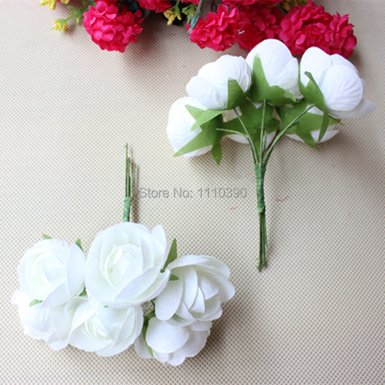 Buy 3cm artificial flower bouquet ribbon for A lot of different flowers make a bouquet