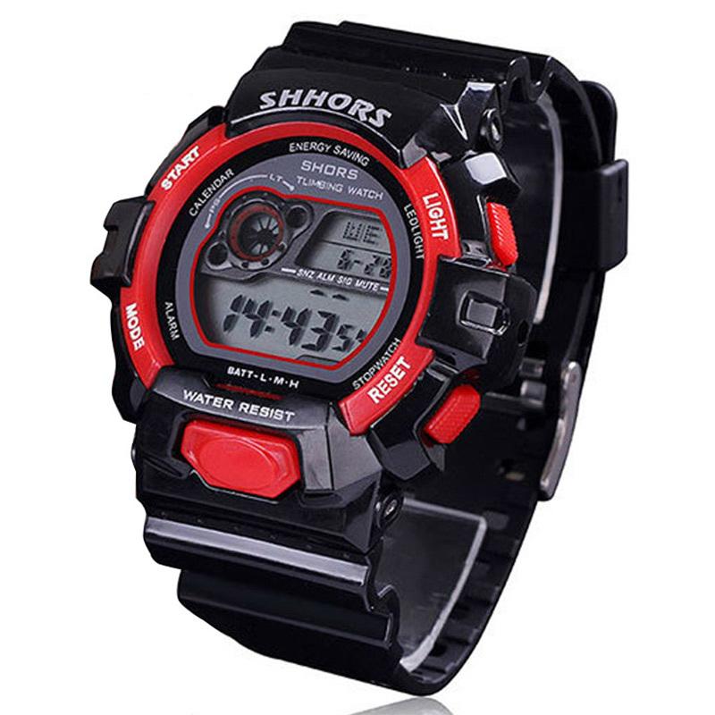 Men quartz sports watch with silicone rubber strap LED light  digital waterproof alarm calendar multifunction hot sale dropship<br><br>Aliexpress