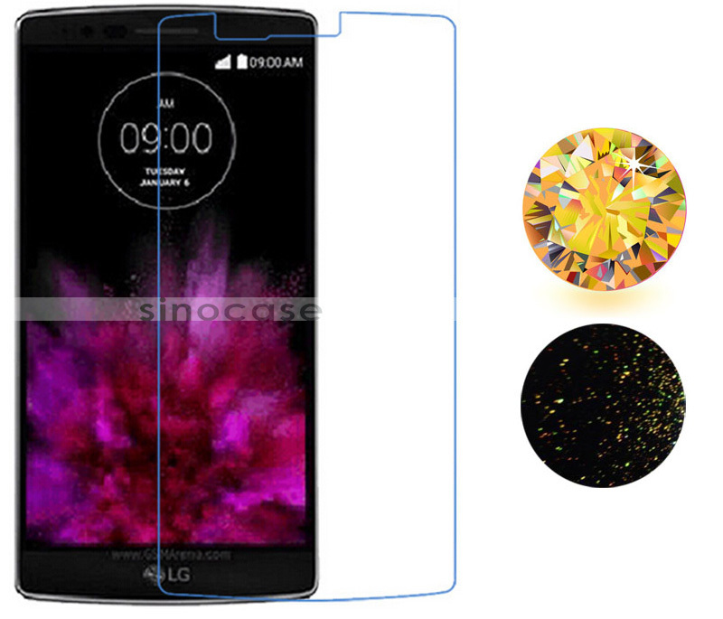 Gold Diamond Screen Protector For LG G Flex 2 F510L Sparkling Glitter Protective Film Deluxe Bling Crystal Rhinestone Sticker(China (Mainland))