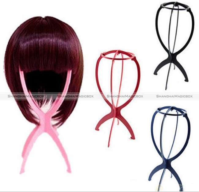 ShanghaiMagicBox Wig Hair Hat Cap Holder Stand + Wig Cap + Hair Brush Comb Set 15114302(China (Mainland))
