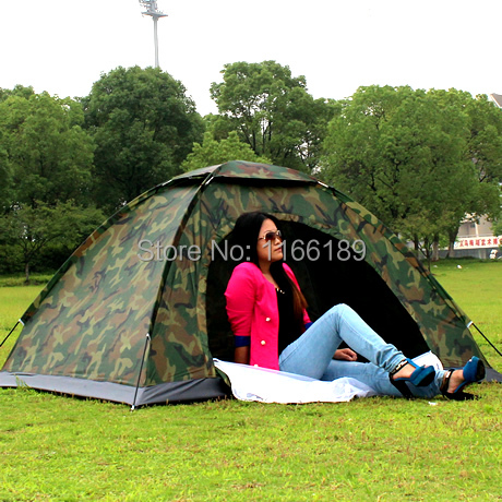 Wholesale Casual 2 person outdoor camping tent bivvy Tourist hiking backpacking trekking camouflage tent drop shipping(China (Mainland))