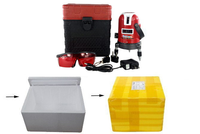 5 lines 6 points laser level 360 rotary cross laser line leveling with outdoor model can