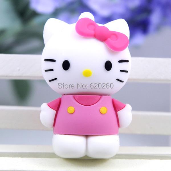 Free shipping! 4gb/8gb/16gb/32gb/64gb usb flash drive cartoon usb open drives cartoon cute kt cat hello kitty usb flash disk(China (Mainland))