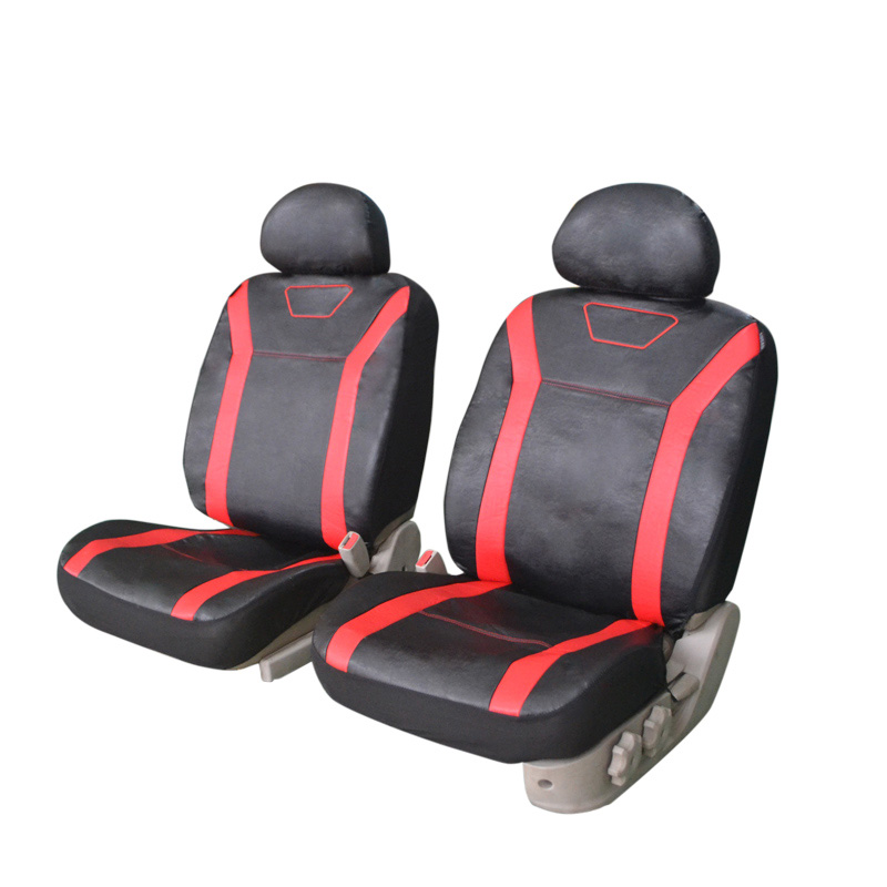 2PCS PU Leather Car Front Seat Covers Fit Most Vehicles