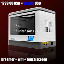 CES exhibition Flashforge 3D Printer Dreamer WIFI touchscreen CE FCC dual nozzle Fully Enclosed Chamber with