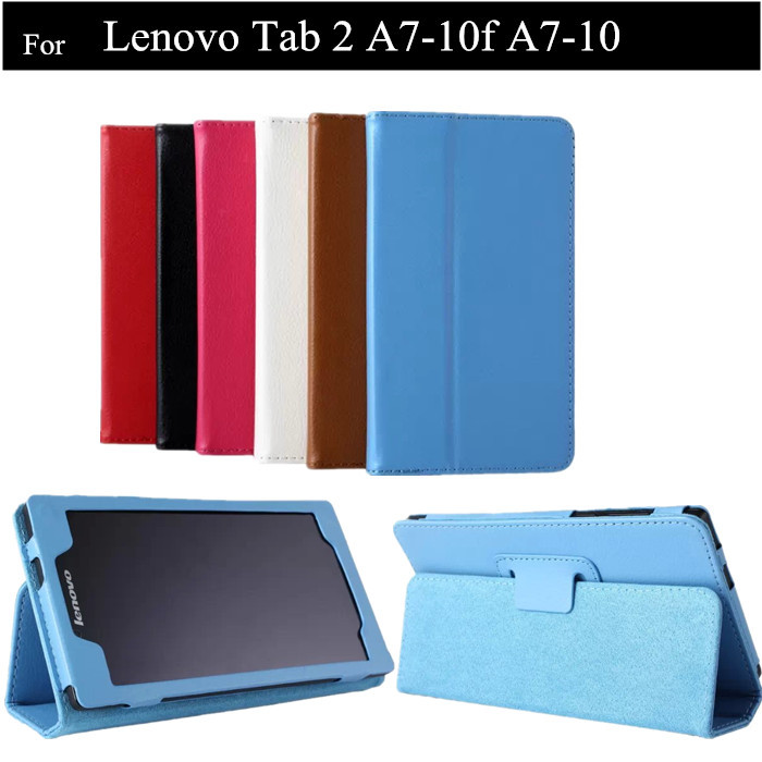 Wholesale 7 inch A7-10F Lichee Pattern PU Leather Case For Lenovo Tab 2  A7-10 Tablet Leather Case ,50PC/LOT<br><br>Aliexpress