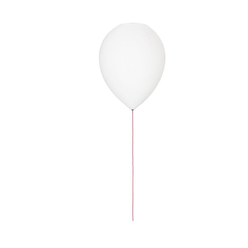 Ballon flushmount ceiling lights white glass suspension for Ceiling lights for kids bedroom