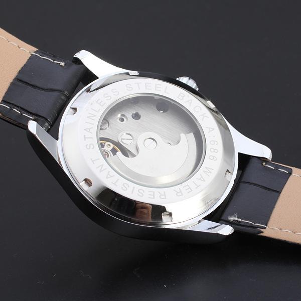2016 новый дизайн Женщин смотреть Автоматические механические роскошные часы Леди кожа бизнес моды часы relogio masculino подарок